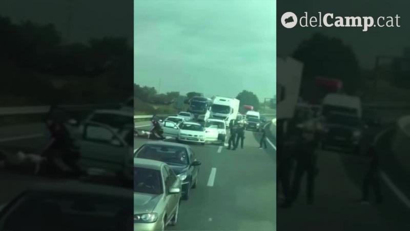 Romani suspectati de furt arestati in Spania chiar pe autostrada.  Totu a fost filmat.