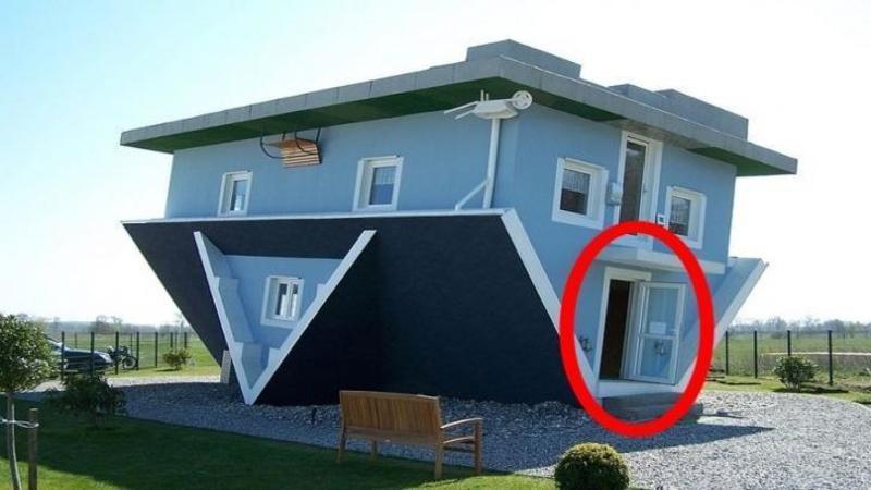 Casa asta a fost construită cu CURU în SUS, dar aşteaptă să intri în ea să îi vezi INTERIORUL? este o nebunie să locuieşti acolo!