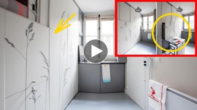 Acestă cameră are doar 8 metrii pătraţi dar este defapt un apartament în toată regula: Când o să vezi cum se transformă vei rămâne fără cuvinte... pur şi simplu GENIAL