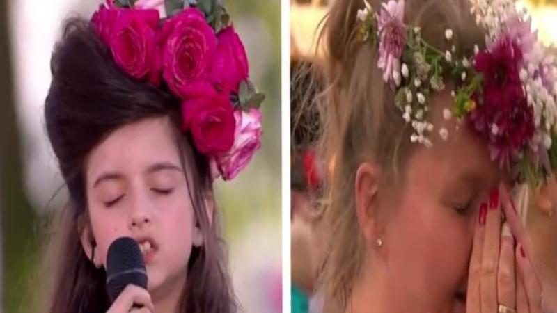 A urcat pe scenă şi a închis ochii, ce a urmat să scoată din VOCEA ei i-au făcut pe toţi să plângă! Această micuţă de doar 8 ani este un FENOMEN inegalabil...