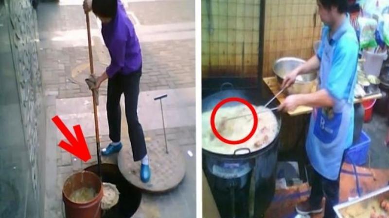 In China se găteşte cu ?uleiul? din CANAL: Iată cum toate restaurantele şi fast-foodurile gătesc cu acest tip de ulei al canalizărilor de sub marile oraşe - Un videoclip şocant!!