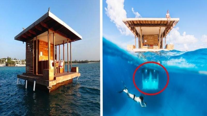 Vi se pare doar o casă PLUTITOARE pe apă?? aşteaptă să vezi unde se află DORMITORUL? Dumnezeule, este pur şi simplu o superbitate