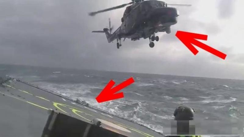 Cum reuşeşte acest pilot de ELICOPTER să aterizeze pe navă în timpul unei furtuni este INCREDIBIL? uite câtă precizie şi măiestrie îţi trebuie? WOW
