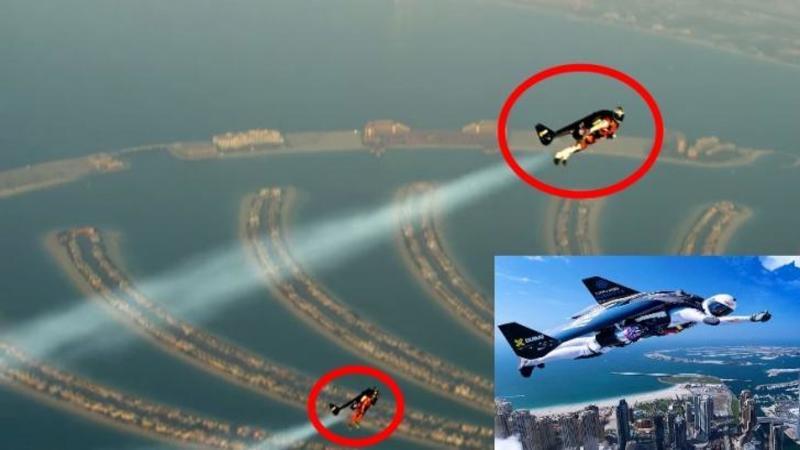 Nu este nici un TRUCAJ, iar ce vezi pe cer sunt oameni care zboară cu JetPack-ul: Iată ultima invenţie care face ca zborurile de avion să pară... BANALE