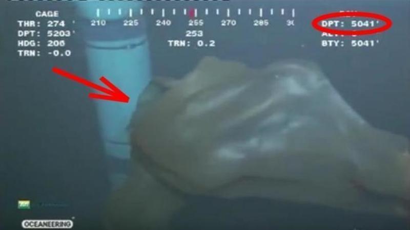 Un robot trimis să lucreze la o pompă petrolieră de pe fundul oceanului a filmat o CREATURA care te va băga în sperieţi! Totul s-a petrecut la peste 5000 de metri adâncime...