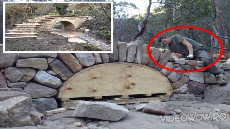 A pus piatră peste piatră şi a construit un POD peste pârâul care îi trecea prin spatele curţii! Nici prin cap nu îmi trecea cât de uşor poate fi construcţia unei asemenea minunăţii... WOW