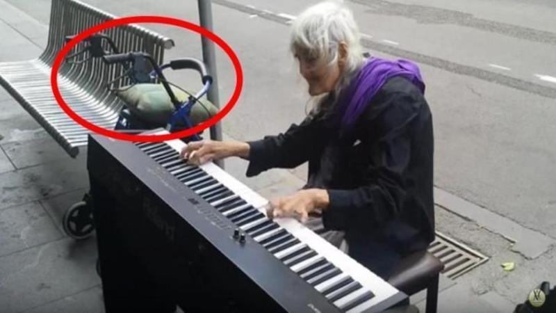 Singura ei AVERE este căruciorul pe care îl cară după ea peste tot, dar cu mâinile ei îţi va atinge inima negreşit! Când o să o auzi cum cântă pe această femeie de 80 de ani care trăieşte pe străzi... vei rămâne fără cuvinte... Emoţionant