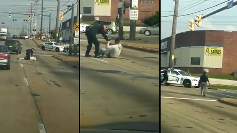 Acesta este, probabil, cel mai SLAB politist din SUA. Nu a fost in stare sa imobilizeze un suspect, ba mai mult, acesta i-a furat masina de politie.