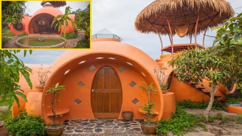 A costat doar €6500 şi este toată făcută din pământ şi LUT: O splendidă minunăţie arhitecturală care întrece orice imaginaţie! O casă cu adevărat de VIS