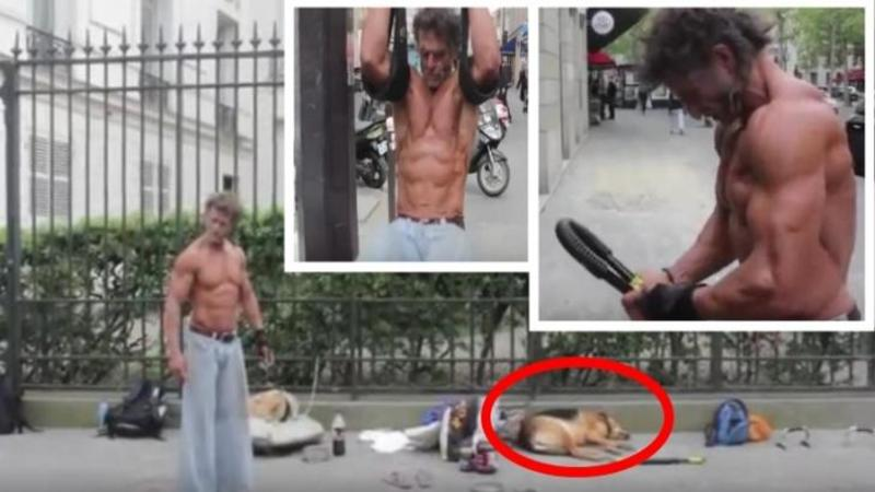 Trăieşte pe străzi alături de câinele lui fără nici un acoperiş deasupra capului, dar cu toate astea este cel mai disciplinat şi PUTERNIC om al străzii din lume!