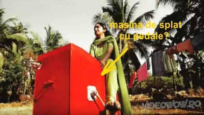 Nu este atât de eficientă ca o maşină de SPALAT electrică, dar cu siguranţă niciodată nu te va lăsa la greu! Iată ce a inventat această fată minunată din India pentru a-şi ajuta numeroasa familie... Interesant!
