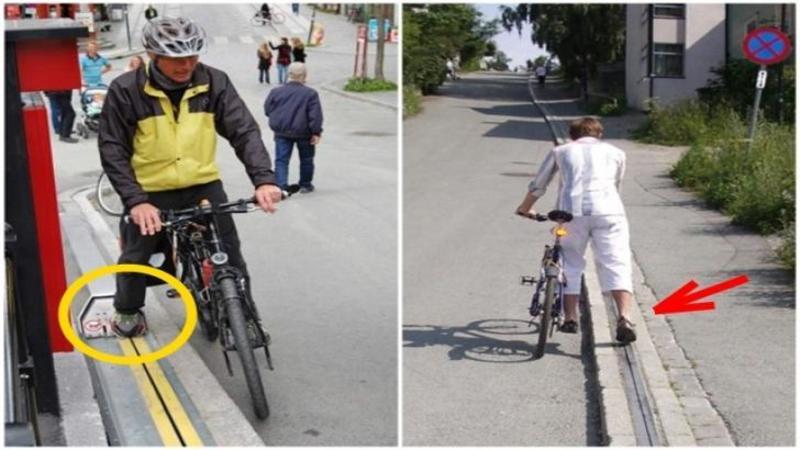 Acest biciclist pune piciorul pe marginea BORDURI, când am văzut ce a ieşit din ea am rămas complet blocat! Iată unde poţi să ajungi dacă o foloseşti... WOW
