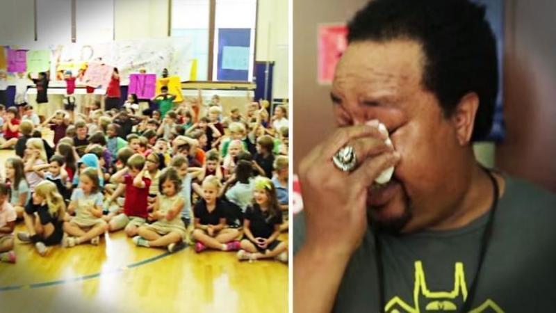 Este doar un simplu OM de SERVICIU, dar pentru aceşti micuţi care învaţă în şcoala lui este un adevărat EROU: Ce i-au pregătit aceştia de ziua lui te va impresiona până la lacrimi - Un cadou pe care îl merita din plin