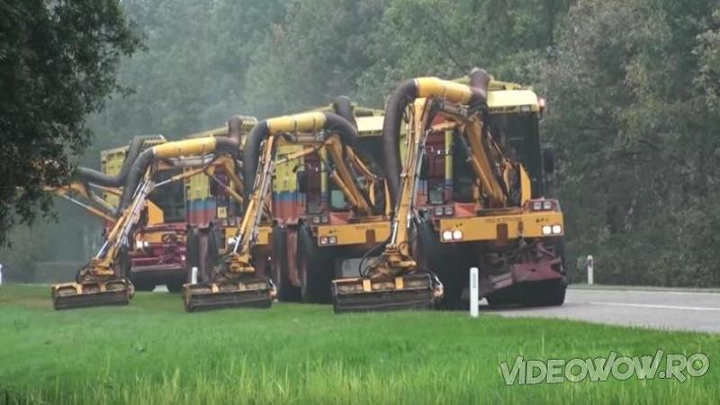 Ele sunt maşinăriile care se ocupă de spaţiile verzi ale Germaniei şi nu numai! Iată cum funcţionează şi cum arată aceste minunăţii ale tehnologiei, nu o să îţi vină să crezi ce pot face... WOW