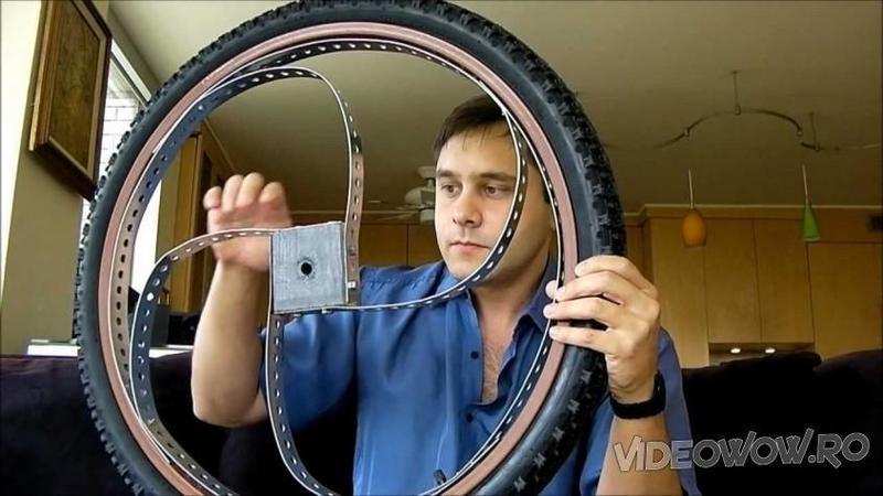 Si-a tăiat spiţele de la roţile de bicicletă şi a sudat aceste ciudăţenii pe ele! Când am văzut cât de bine merge acum bicicleta lui... De necrezut!
