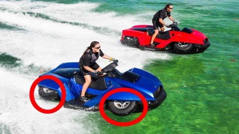 ATV-ul care merge şi pe apă şi pe uscat! Ultima fiţă posibilă de pe LITORAL: Cu o simplă atingere de buton se transformă într-un SKY JET