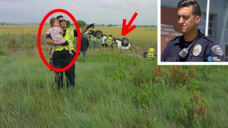 Tatăl acestei fetiţe din imagine MOARE în cumplitul accident... dar ce face POLITISTUL de la rutieră pentru ea... îţi va atinge inima! Un gest cu adevărat emoţionant