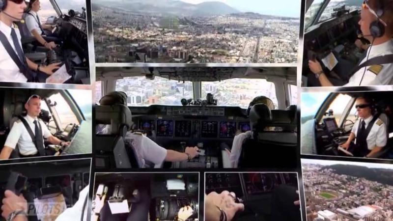 Cum se aterizează un GIGANT al cerului în siguranţă: Iată calmul şi măiestria acestor piloţi în timpul celei mai periculoase manevre de ZBOR... ţi se va zbârli părul pe tine! WOW