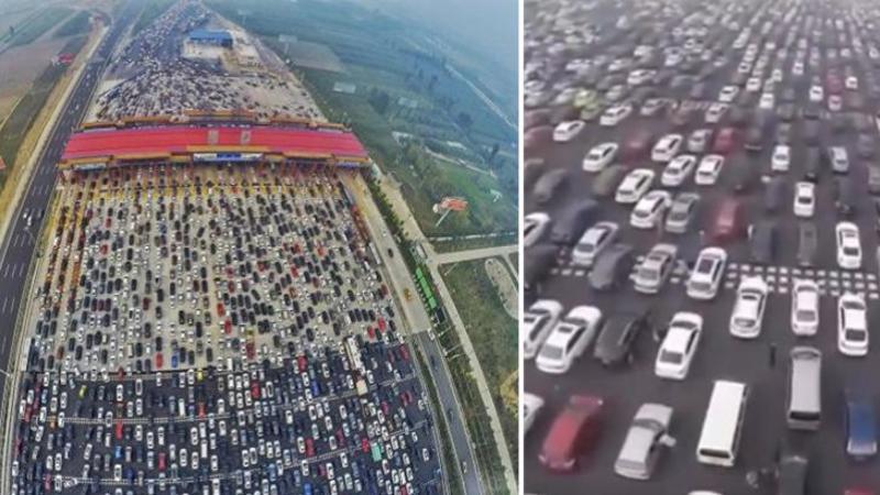 Pare de necrezut dar aşa arată AMBUTEIAJELE în China: Dacă crezi că TRAFICUL nostru spre mare este infernal... înseamnă că nu ai văzut nimic până acuma!