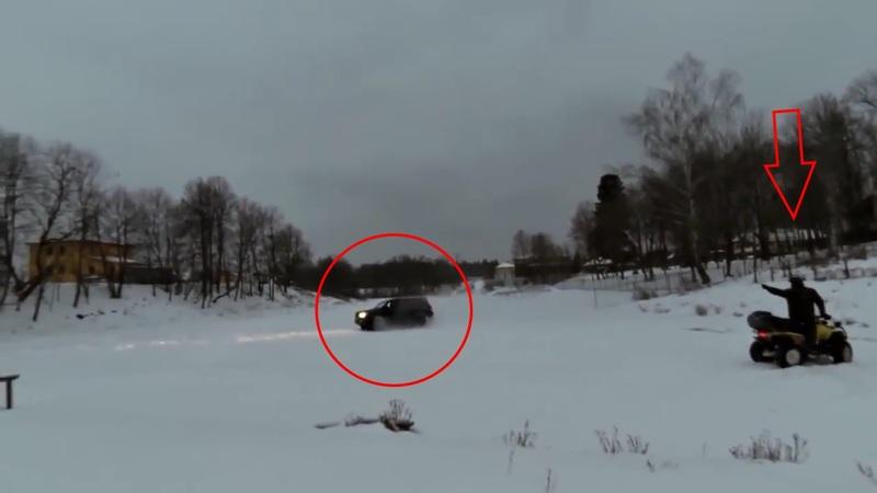 S-a dat in spectacol pe gheta unui lac din Siberia dar norocul nu a tinut cu el. A fost la un pas de moarte!
