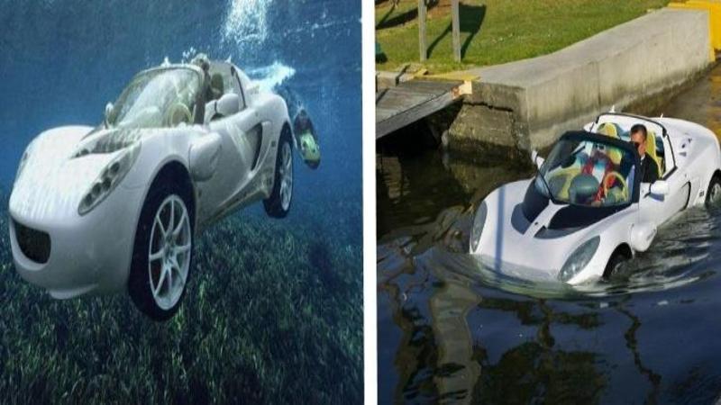 Maşina perfectă pentru orice vacanţă: Este singurul AUTOMOBIL care poate fi condus atât pe stradă cât şi sub apă, cu siguranţă nu ai mai văzut aşa ceva până acum... WOW