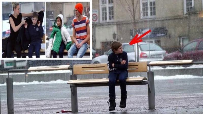 Era minus 15 grade afară când au început să îl filmeze pe acest copil îngheţat pe o bancă din staţia de autobuz: Ce sa întâmplat câteva minute mai târziu... nici nu îţi va vine să crezi... dar mai sunt pe lumea asta oameni care ar face orice pentru tine!