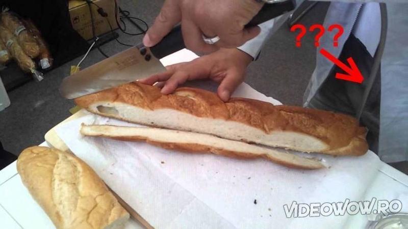 Pare un simplu CUTIT de tăiat pâine, dar uite ce iese din mânerul acestui dispozitiv fantastic! Când ai să vezi cât de uşor şi precis taie feliile de pâine vei rămâne cu gura căscată!