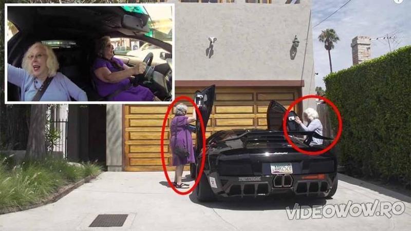 Două BUNICUTE curajoase se urcă pentru prima dată într-un Lamborghini de 780 cai putere! Ce s-a întâmplat în scurta lor plimbare prin oraş cu bestia pe roţi... De necrezut!