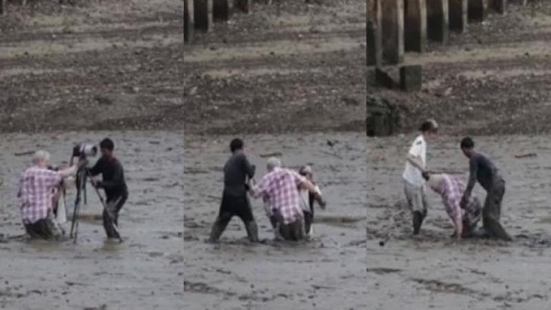 A vrut să îi facă o poză soţiei dar au fost la un pas de TRAGEDIE! Cum i-a SALVAT un pescar de la moarte nu mi-a venit să cred: Iată ce gest a făcut acesta pentru ei... Foarte frumos