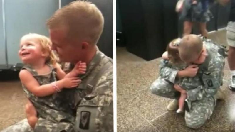 Micuţa nu şi-a mai văzut tatăl de 6 luni şi are parte de o surpriză fermecătoare! Fi doar atent ce face când îşi vede tăticul... Emoţionant