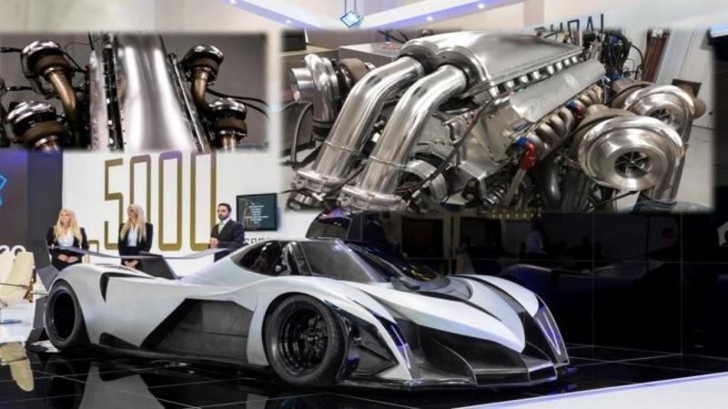 Este cea mai scumpă şi RAPIDA maşină de stradă, iar motorul ei depăşeşte 5000 de cai putere! Iar dacă ai o curiozitate cum se aude MOTORUL acestei bestii care atinge 100km/h în doar 1,8 secunde... fi pregătit să te uzi tot de plăcere... WOW