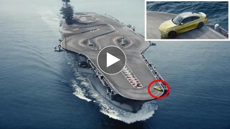 S-a suit într-o maşină de 425 de cai şi a reuşit IMPOSIBILUL: A făcut DRIFTURI în mijlocul oceanului la caţiva milimetri de MOARTE
