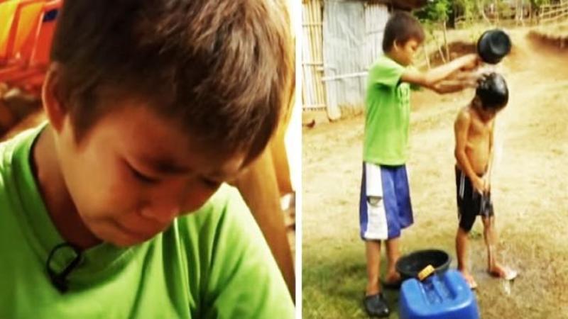 A fost ABANDONAT de părinţi la doar 13 ani, iar de atunci acest mic INGER este atât mamă cât şi tată pentru cei 3 fraţi pe care îi creşte cu greu în fiecare zi! O poveste emoţionantă