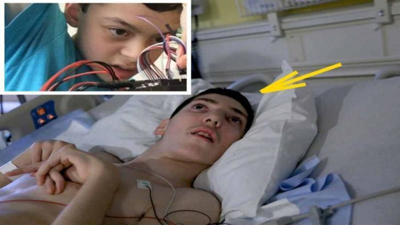 Si-a văzut prietenul lovit de FULGER şi paralizat pe patul de spital: Ce aparat special a creat acest copil de doar 13 ani pentru ca prietenul său să vorbească din nou te va lăsa mut de admiraţie şi uimire! O poveste de viaţă emoţionantă