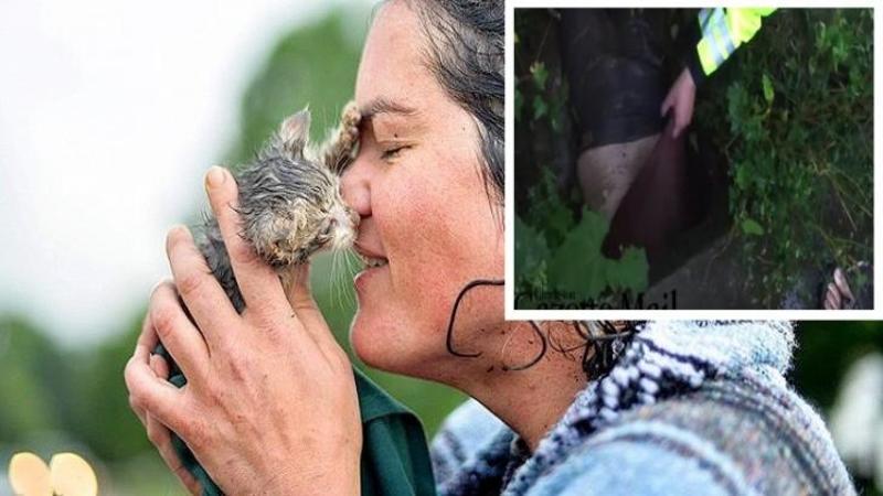 Si-a RISCAT propria viaţă pentru a salva această pisicuţă de la înec, iar când ai să vezi prin ce a trecut că să ajungă la ea... nu există cuvinte pentru gestul CURAJOS al acestei fete!